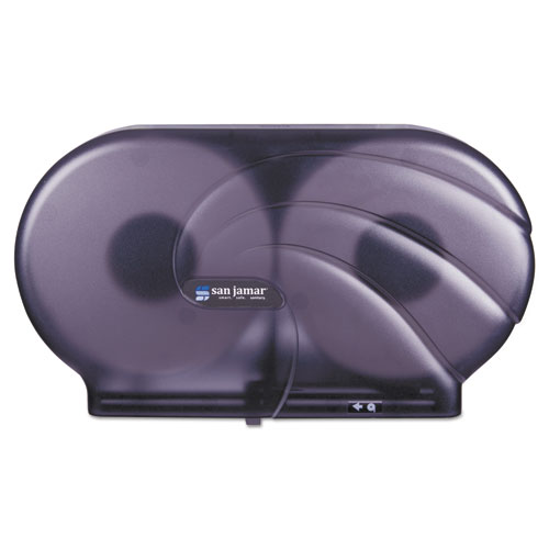 "Twin 9"" JBT Toilet Tissue Dispenser, Oceans, 19 x 5 1/4 x 12, Black Pearl 