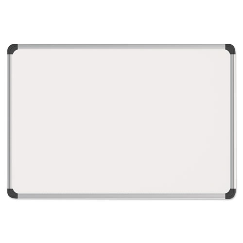 Magnetic Steel Dry Erase Board, 48 x 36, White, Aluminum Frame | by Plexsupply