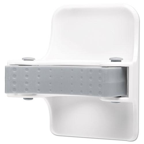 Command™ Broom Gripper, 3.12w x 2.43d x 3.34h, White/Gray, 1 Gripper/2 Strips