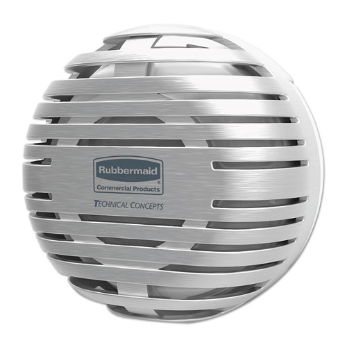 "Rubbermaid® Commercial TCell Dispenser, 4.09"" Diameter x 2.36"", Brushed Chrome"