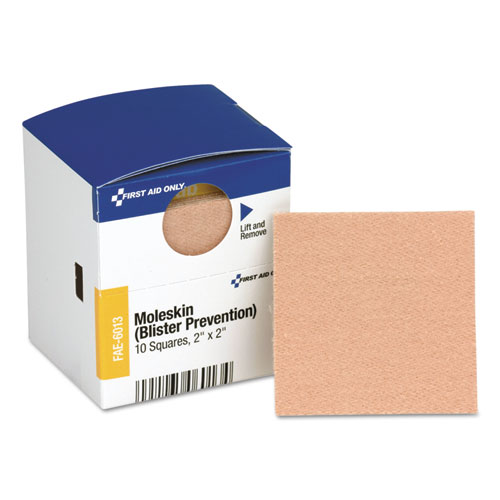"SmartCompliance Moleskin/Blister Protection, 2"" Squares, 10/Box 