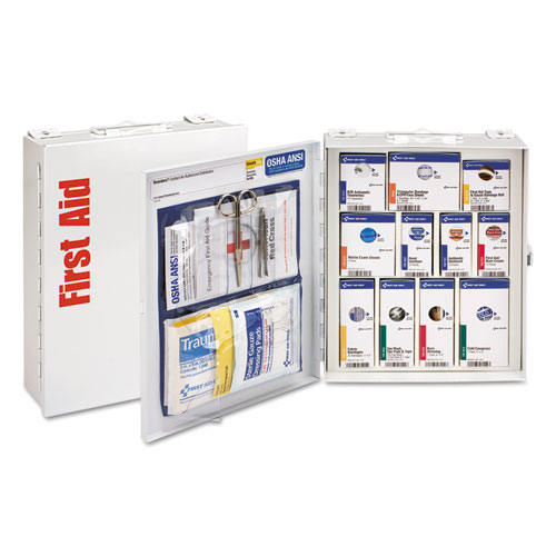 ANSI 2015 SmartCompliance First Aid Station Class A, No Meds,25 People,94 Pieces
