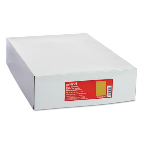 Kraft Clasp Envelope, #110, Square Flap, Clasp/Gummed Closure, 12 x 15.5, Brown Kraft, 100/Box