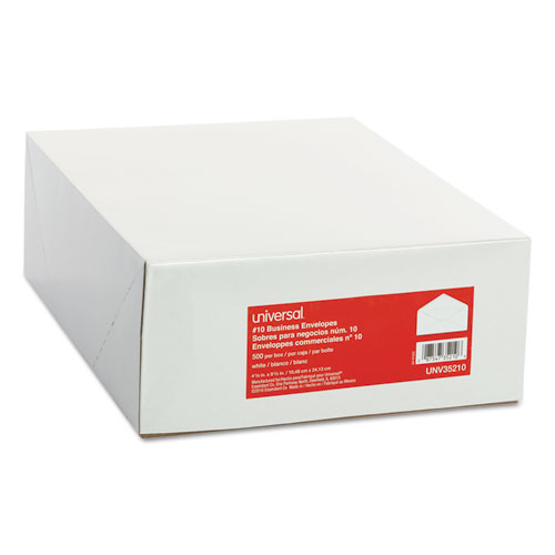 Universal® Business Envelope, #10, 4 1/8 x 9 1/2, White, 500/Box