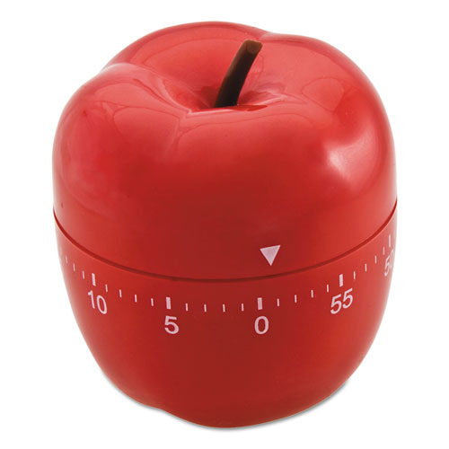 """Shaped Timer, 4"""" dia., Red Apple"""