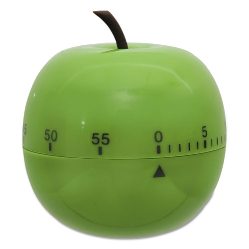 "Shaped Timer, 4 1/2"" dia., Green Apple 