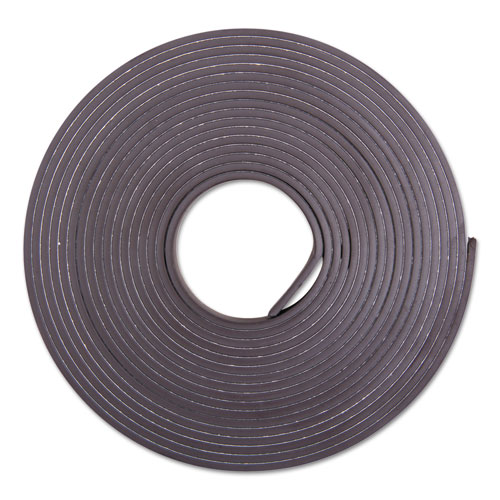 Adhesive-Backed Magnetic Tape, Black, 1/2 x 10ft, Roll