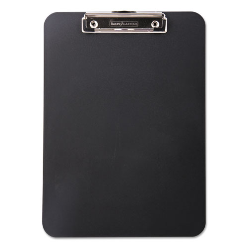 Unbreakable Recycled Clipboard, 1/2 Capacity, 8 1/2 x 11, Black