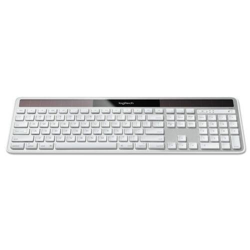 Wireless Solar Keyboard for Mac, Full Size, Silver | by Plexsupply