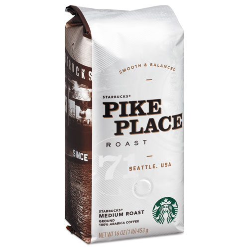 Coffee, Pike Place, Ground, 1lb Bag | by Plexsupply