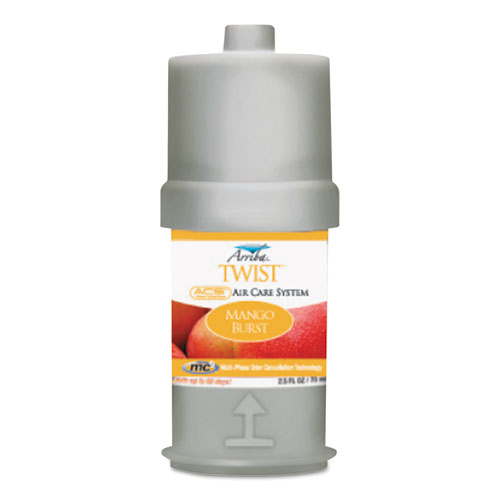 San Jamar® Arriba Twist Fragrances, Mango Burst, 2.5 oz Cartridge, 6/Box