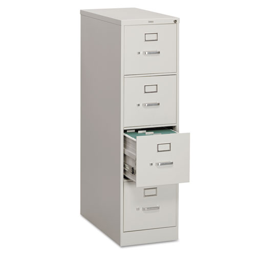 310 Series Four-Drawer Full-Suspension File, Letter, 15w x 26.5d x 52h, Light Gray