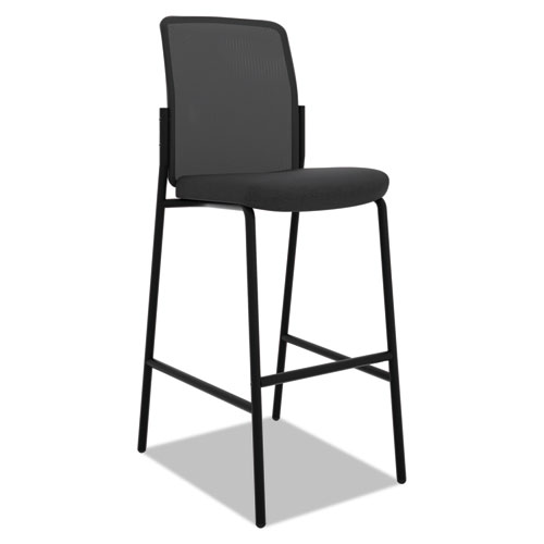 """Instigate Mesh Back Multi-Purpose Stool, Supports Up to 250 lb, 33"""" Seat Height, Black, 2/Carton"""