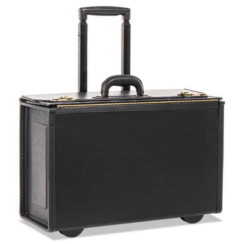 Tufide Rolling Catalog Case, 22 1/4 x 9 x 13 1/2, Black