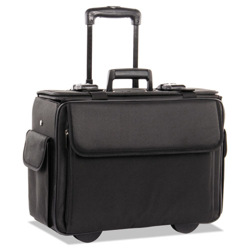 Catalog/Computer Case on Wheels, Nylon, 18 x 8 x 13, Black