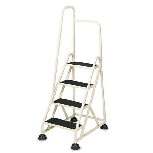 "Cramer® Two-Step Stop-Step Aluminum Ladder, 23"" High, Beige"