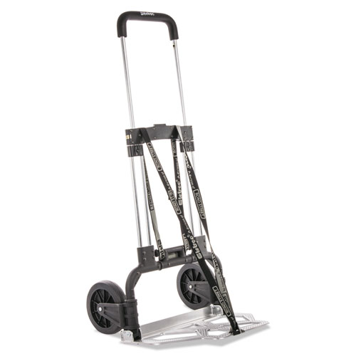 Portable Slide-Flat Cart, 275lbs, 18 3/4 x 19 x 40, Black/Charcoal