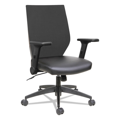 Astounding Alera Eb T Series Synchro Mid Back Flip Arm Chair Supports Up To 275 Lbs Black Seat Black Back Black Base Cjindustries Chair Design For Home Cjindustriesco