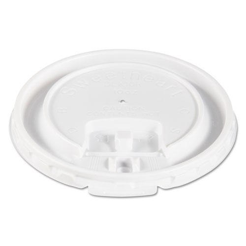 Liftbk & Lock Tab Cup Lids for Foam Cups, Fits 10oz Cups, White, 2000/Carton DLX10R