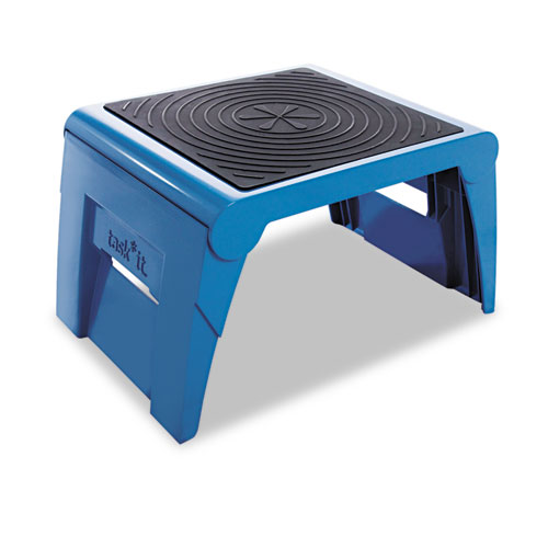 Cramer® Folding Step Stool, 1-Step, 300 lb Capacity, 14w x 11.25d x 9.75h, Blue