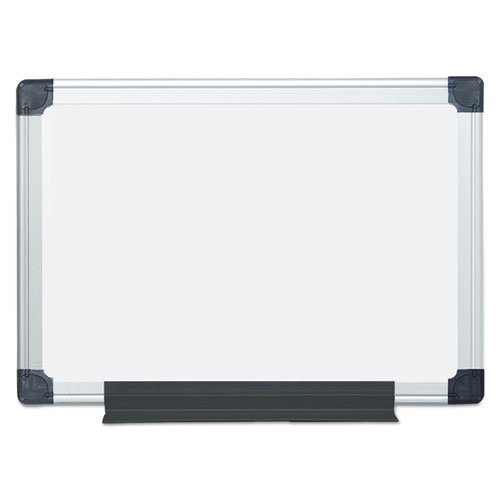 Value Lacquered Steel Magnetic Dry Erase Board, 18 x 24, White, Aluminum | by Plexsupply