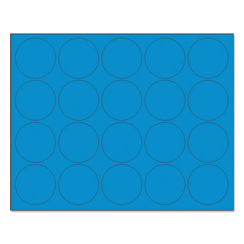 Interchangeable Magnetic Board Accessories, Circles, Blue, 3/4, 20/Pack