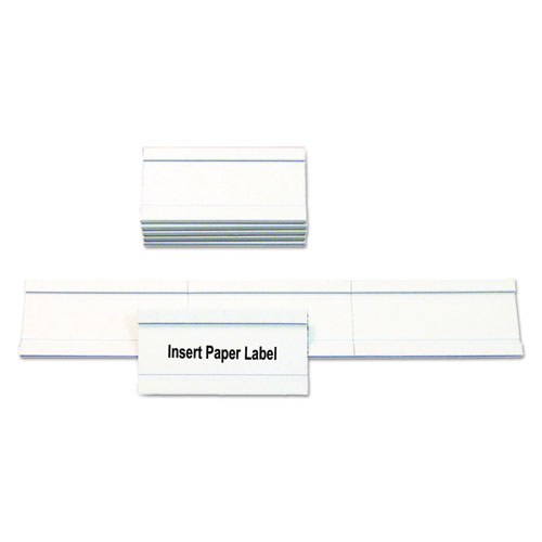 Magnetic Card Holders, 2w x 1h, White, 25/Pack