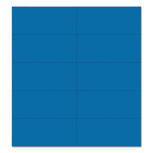 Dry Erase Magnetic Tape Strips, Blue, 2 x 7/8, 25/Pack
