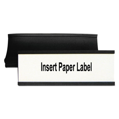 Magnetic Card Holders, 6w x 2h, Black, 10/Pack