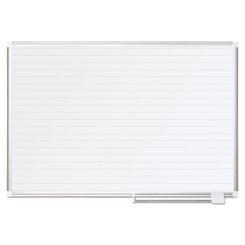Ruled Planning Board, 48 x 36, White/Silver | by Plexsupply