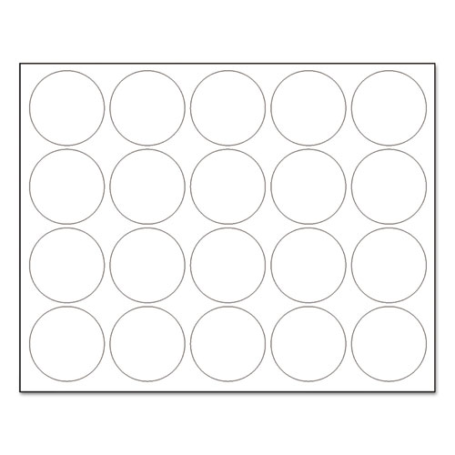 Interchangeable Magnetic Board Accessories, Circles, White, 3/4, 20/Pack