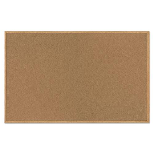 Value Cork Bulletin Board With Oak Frame 48 X 72 Natural