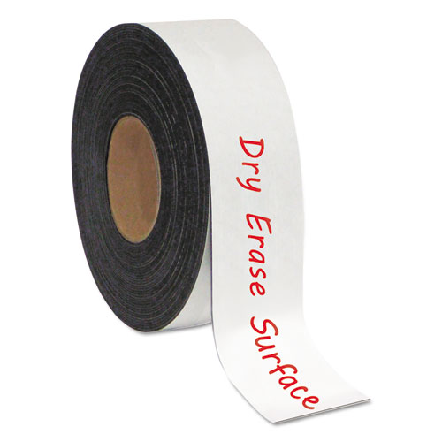 Dry Erase Magnetic Tape Roll, White, 2 x 50 Ft.