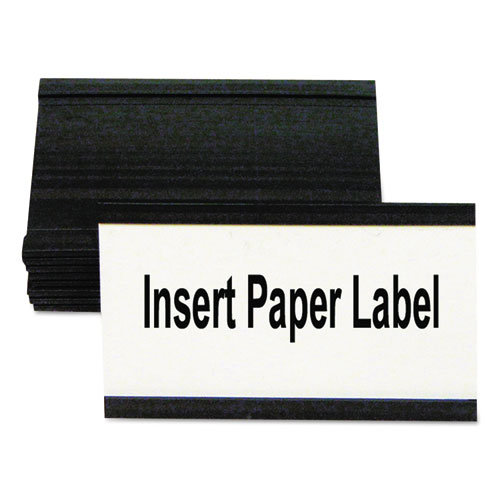 Magnetic Card Holders, 3w x 1 3/4h, Black, 10/Pack
