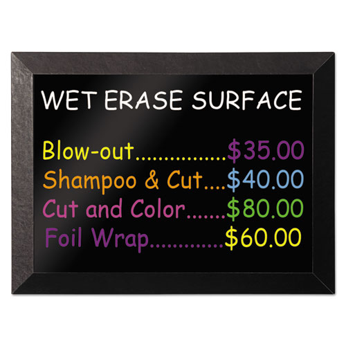 Kamashi Wet-Erase Board, 48 x 36, Black Frame | by Plexsupply