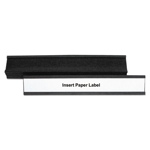 Magnetic Card Holders, 6w x 1h, Black, 10/Pack