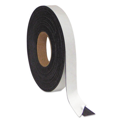 Magnetic Adhesive Tape Roll, Black, 1 x 50 Ft.