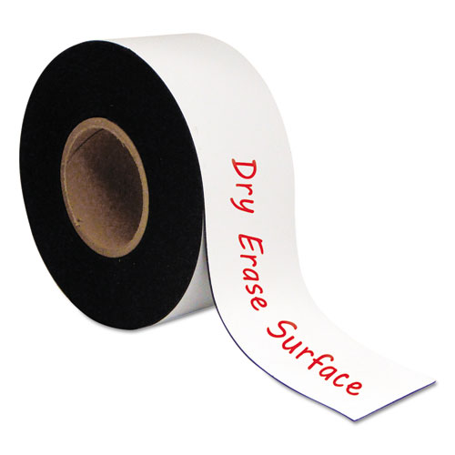 Dry Erase Magnetic Tape Roll, White, 3 x 50 Ft.