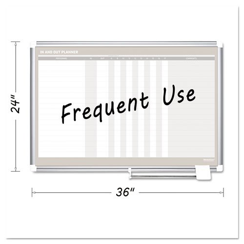 In-Out Magnetic Dry Erase Board, 36x24, Silver Frame | by Plexsupply