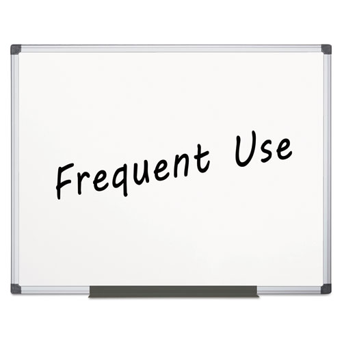 Value Lacquered Steel Magnetic Dry Erase Board, 48 x 72, White, Aluminum Frame | by Plexsupply