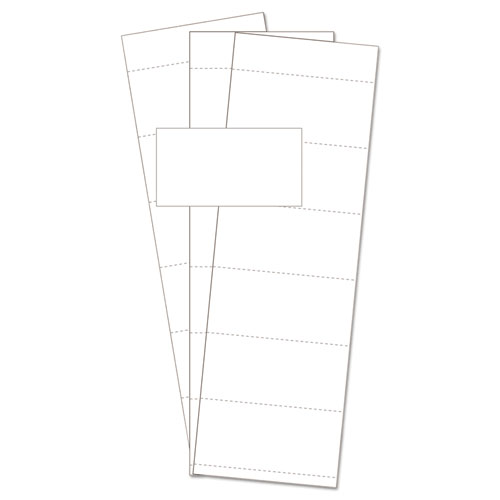 "Data Card Replacement, 3""w x 1 3/4""h, White, 500/PK 