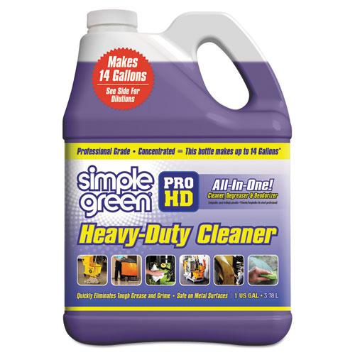 Pro HD Heavy-Duty Cleaner, Unscented, 1 gal Bottle, 4/Carton