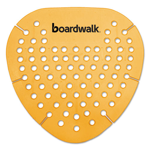 Boardwalk® Gem Urinal Screen, Lasts 30 Days, Orange, Mango Fragrance, 12/Box