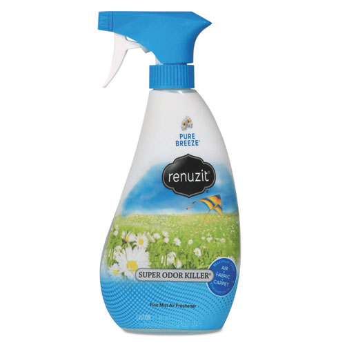 Super Odor Neutralizer Spray, Pure Breeze, 13 oz Spray Bottle, 6/Carton