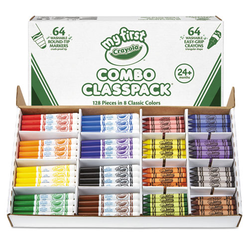 My First Crayons And Markers Combo Classpack Eight Colors