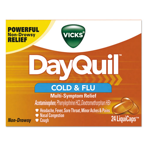 DayQuil Cold  Flu LiquiCaps, 24/Box