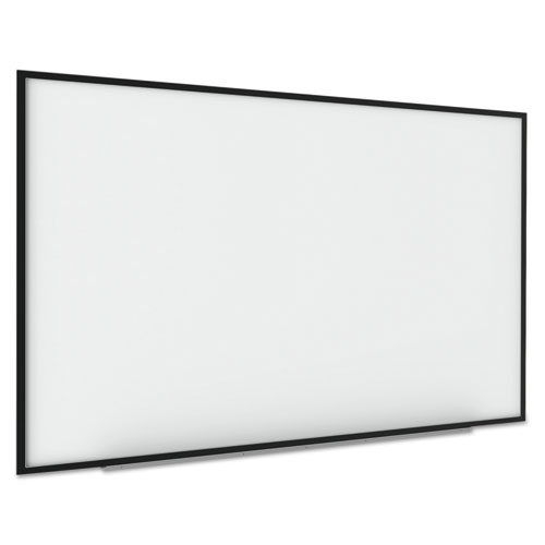 Interactive Magnetic Dry Erase Board, 70 x 52 x 1 1/4, White/Black Frame