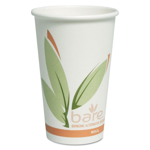 Bare by Solo Eco-Forward Recycled Content PCF Paper Hot Cups, 16 oz, 300/Ct OF16RCJ8484