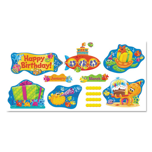 TREND® Sea Buddies Birthday Bulletin Board Set, 18 1/4 x 31, 110 Pieces