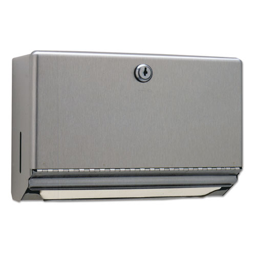 Surface-Mounted Paper Towel Dispenser, 10.75 x 4 x 7.06, Stainless Steel